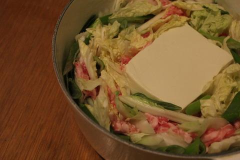 豆腐が主役の豚肉と白菜の豆乳ミルフィーユ鍋