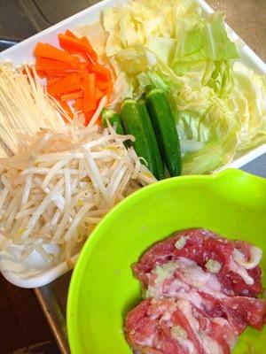 野菜と豚の蒸籠蒸し3