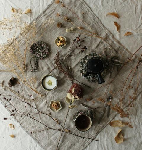 TeaTime : Rosemary Tea, Granola, Yogurt, Okaki