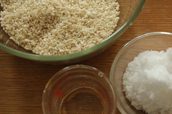 塩麹の材料