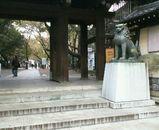 靖国神社塀の門のとこ