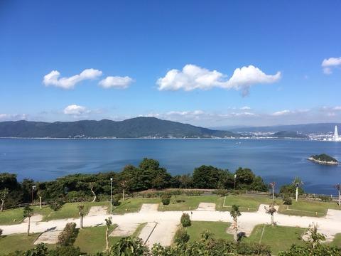 笠戸島家族旅行村で足湯