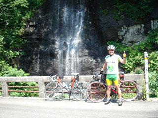 青沢峠途中の滝