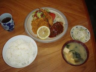 「中村屋」ミックス定食
