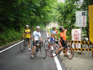 朝日〜大井沢ツーリング_朝日町林道前