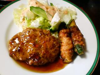 「季分屋」ポーク肉巻&ハンバーグ