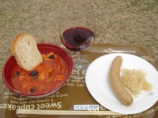 2009高畠ワイナリースプリングフェスタ食事