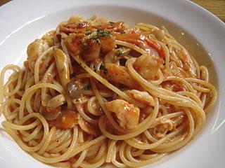 roma-station海老のトマトクリームスパゲティー