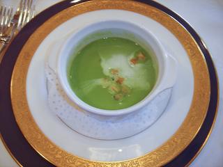 えんどう豆のクリームスープ