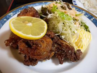 「季分屋」若鶏の唐揚げ定食