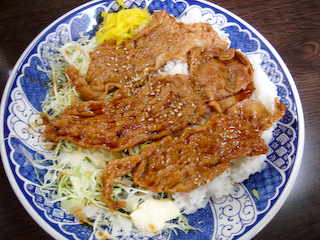 「民宿武蔵」豚肉焼肉ライス