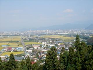 長谷堂城跡山頂広場からの眺め