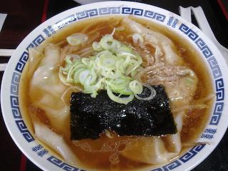 エビのジャンボワンタンあんかけ麺