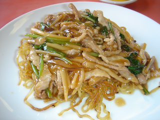 「江南春」肉絲炒麺