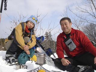060121高取山snowshoe休憩
