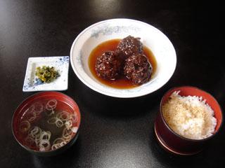 肉団子定食