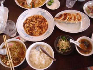 麻婆豆腐+半らーめんセット