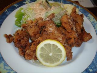 「季分屋」若鶏の唐揚げ定食UP