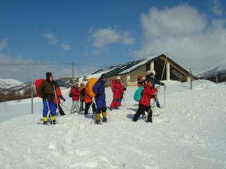月山スノーシュー最高積雪深トレッキング