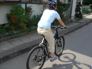 妻と自転車