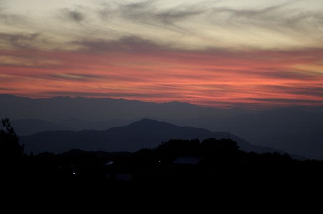 蔵王大橋からの夕焼け