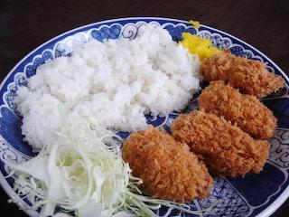 「民宿武蔵」カキフライライス