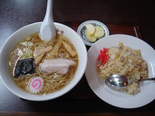 昭和食堂_ラーメン+チャーハンセット