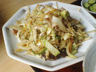 つり味_肉野菜炒め定食