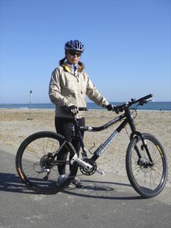 荒浜ツーリング洋子1