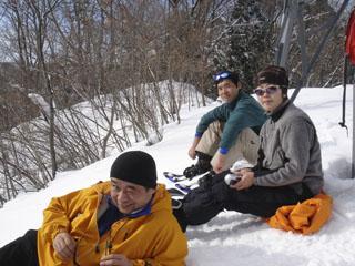 060121高取山snowshoe田中夫妻&大沼氏