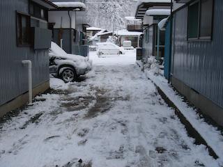 雪かき後1