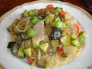 「季分屋」夏野菜の冷製パスタ