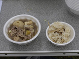 芋煮とマツタケご飯