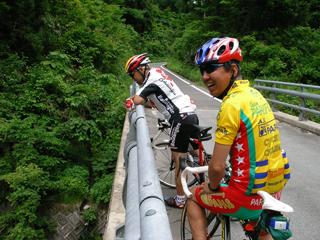 神通峡遊歩道へのアプローチ