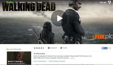 The Walking Dead Hulu