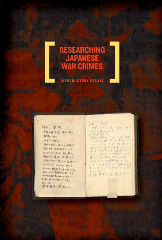researching japanese war crimes introductory essays On august 31, directors of us-japan dialogue on pows visited with congressman tom lantos , researching japanese war crimes records: here are pages from introductory essays (pp 80-84.
