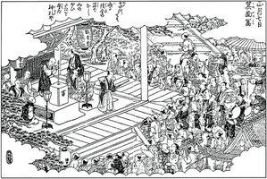 箕面富突の図 『摂津名所図絵』