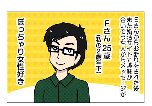 婚活漫画 ネット婚活Fさん編