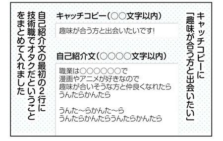027_02【婚活漫画】25~28話 ネット婚活のプロフィール登録