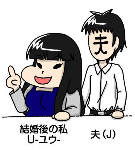 自己紹介_結婚後のU-ユウ-と夫(J)
