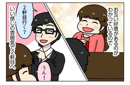 3_2_03【婚活漫画】127-5 ネット婚活 Fさんと2回目のデートで急展開