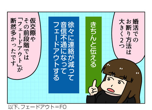 【婚活漫画】120-2 婚活での音信不通でフェードアウトは結構ある