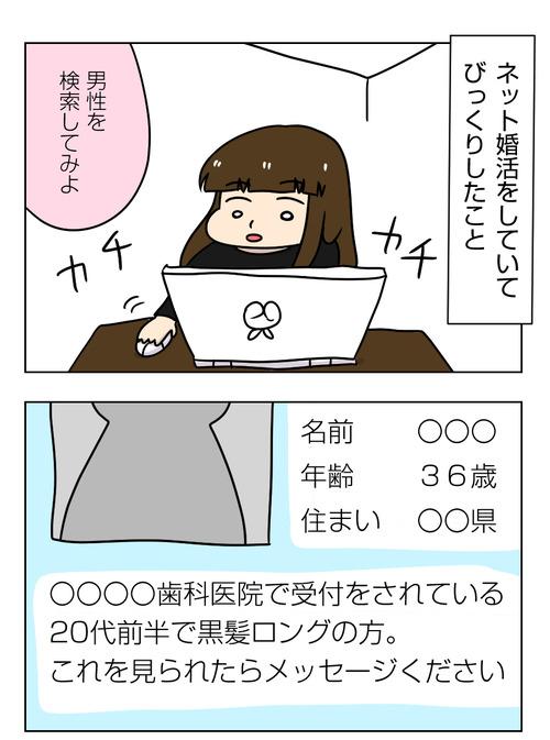 ネット婚活のプロフィールを検索していてビックリした人【婚活漫画 番外編】1_1_01