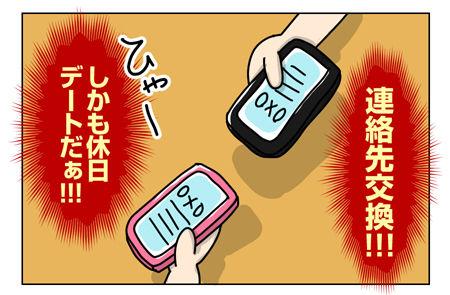 142_03【婚活漫画】67話-4 連絡先交換と休日デート