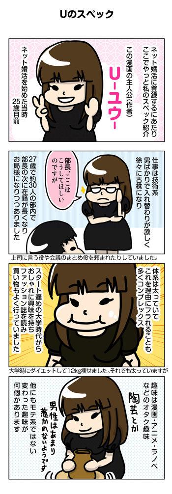 太めオタク アラサー女の婚活漫画 17~20話 ネット婚活に登録する