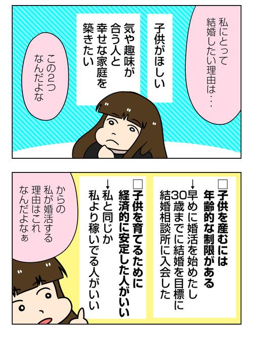 【婚活漫画】147-5 結婚相手に求める条件 と 婚活する理由3_2_03