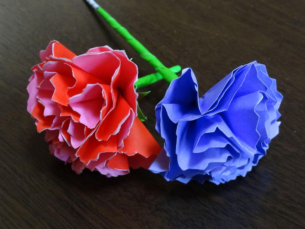 花 折り紙 立体 花 折り紙 : 去年は父の日と一緒に折り紙で ...