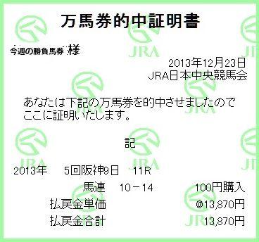 2013阪神カップ