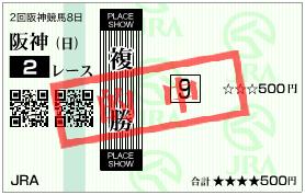 120415阪神2R複勝