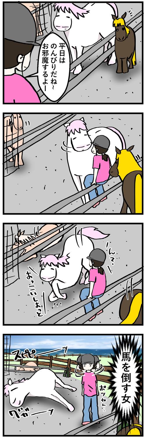 馬を起こす男倒す女2